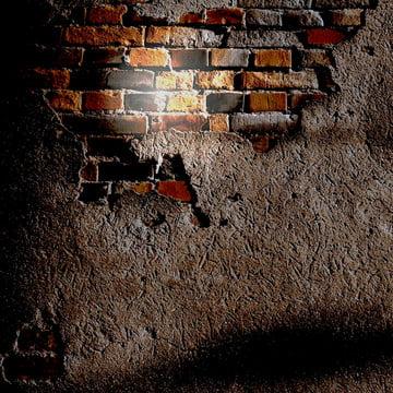 ईंट backwall के साथ प्लास्टर और ईंटों के माध्यम से दिखा , पृष्ठभूमि, ईंट, सीमेंट पृष्ठभूमि छवि