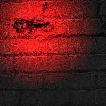 लाल chipped ईंट की दीवार के साथ स्पॉटलाइट पृष्ठभूमि , पृष्ठभूमि, ईंटों, निर्माण पृष्ठभूमि छवि