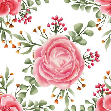 seamless pattern flower rose pink watercolor , Pattern, Seamless, Illustration Background image