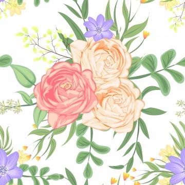 無縫圖案玫瑰桃向量 , 藝術, 秋天, 背景 背景圖片