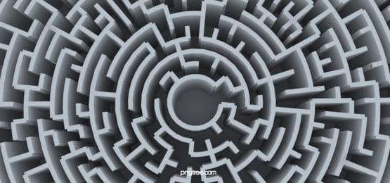 3d virtual labyrinth business background, 3d Labyrinth, Three-dimensional Maze, Three-dimensional Maze Background Background image