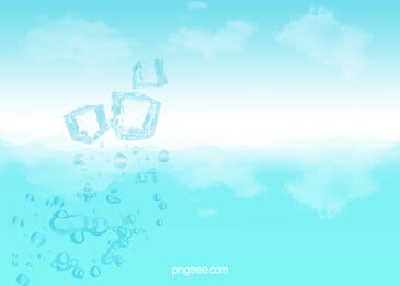 background of blue and fresh ice block into water, Flaky Clouds, Ice Block, Pleasantly Cool Background image