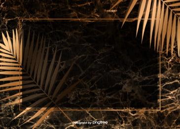 金色の大理石の木目の植物の幾何学の境界の創意的な背景, 幾何脈, アイデア, 大理石 背景画像