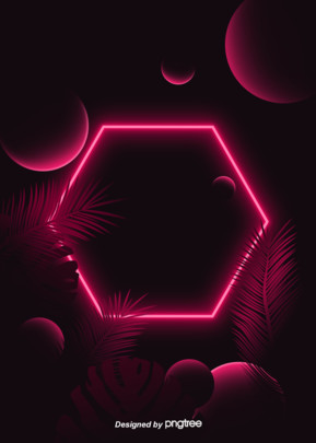 geometric shape tropical leaf theme red neon lighting effect background , Geometric, Luminescence, Circular Background image