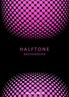 ハーフトーングラデーションスタイルのピンク波の背景 , ハーフトーングラデーション, 抽象的なスタイル, 波点 背景画像