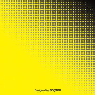 a gradual mudança de tom amarelo   estilo polka dot background , Semi - Tom, Estilo Abstrato, Amarelo Imagem de fundo