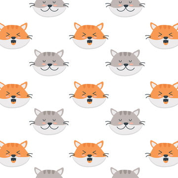 सुंदर खुश बिल्ली चेहरा पैटर्न पशु कला बच्चे पृष्ठभूमि छवि
