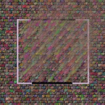 रंगीन ईंट पृष्ठभूमि तितर बितर प्रभाव , पृष्ठभूमि, ईंट, ईंट की दीवार पृष्ठभूमि छवि