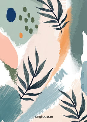 hand painted background of morandi plants , Hand Painted, Abstract, Plant Background image