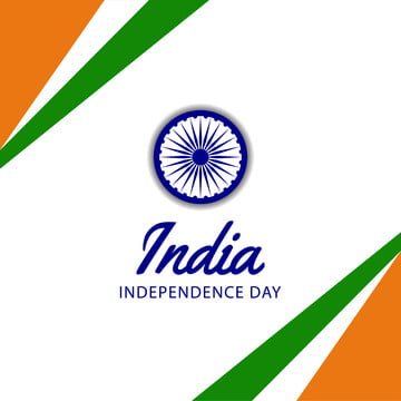 15 august india independence day with waving flaw  ashoka wheel  green orange color  decoration poster banner template , Country, Indian, Tricolor Background image