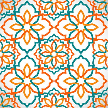 background pattern of islamic geometric mosaic  orange and green tosca , Art, Seamless, Abstract Background image