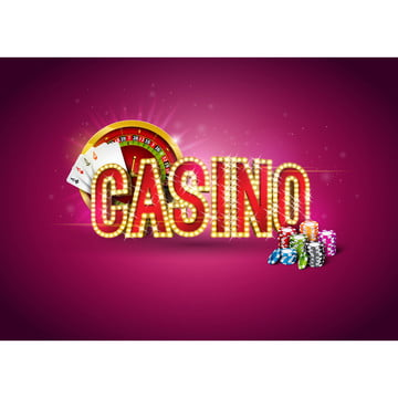 casino illustration with roulette wheel  poker cards  playing chips and lighting signboard on red background  gambling design for party poster  greeting card  invitation or promo banner , Casino, Poker, Background Background image