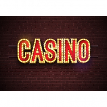 casino neon sign illustration on brick wall background  vector light banner or bright signboard design , Casino, Neon, Background Background image