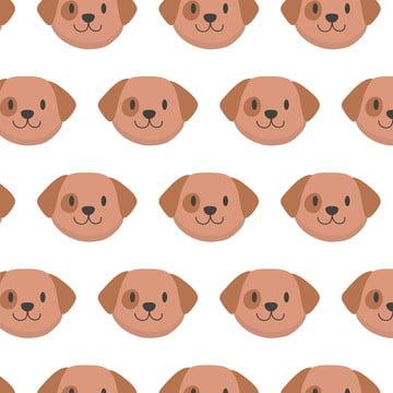 प्यारा बच्चा कुत्ते चेहरा पैटर्न पृष्ठभूमि बैल कार्टून पृष्ठभूमि छवि