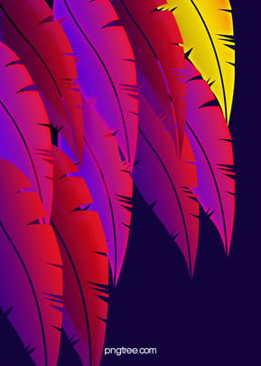 Dark Gradient Feather Patterns Background, Bright Colors, Gorgeous, Strong, Background image