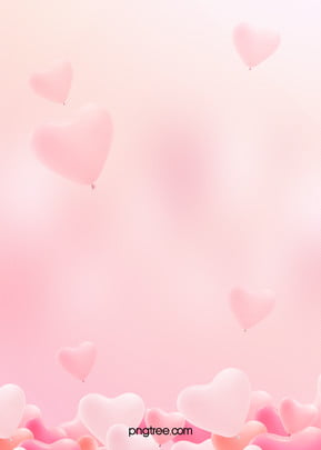 핑크 로맨틱 하트 풍선 배경 , 귀엽다, 몽환, 풍선 배경 이미지