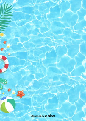 summer decorative blue pool background , Summertime, Pool, Water Mark Background image