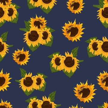 向日葵花無縫圖案 , 摘要, 藝術, 背景 背景圖片