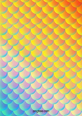 warm gradually coloured luminescent mermaid tail scale texture background , Luminescence, Gradient, Mermaid Background image