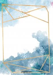 पानी के रंग प्रतिपादन के स्वर्ण रेखा सीमा के साथ नीले रंग की पृष्ठभूमि , सूमी, पानी के रंग का, प्रतिपादन पृष्ठभूमि छवि