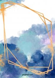 màu nước vẽ các đường viền màu xanh vàng nền , Ngất Xỉu Nhuộm, Màu Nước, Vẽ Ảnh nền