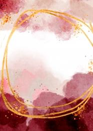 màu nước vẽ các đường viền màu đỏ nền màu vàng , Ngất Xỉu Nhuộm, Màu Nước, Vẽ Ảnh nền