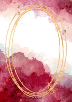 पानी के रंग प्रतिपादन के स्वर्ण रेखा बॉर्डर लाल रंग की पृष्ठभूमि , सूमी, पानी के रंग का, प्रतिपादन पृष्ठभूमि छवि