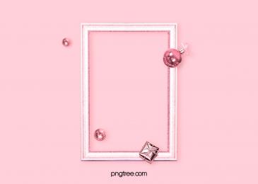 Pink Metal Frame Background, Luxurious, Celebrating, Photo Frame Background image