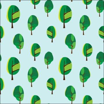 抽象樹卡通無縫 , 綠色, 森林, 壁紙 背景圖片