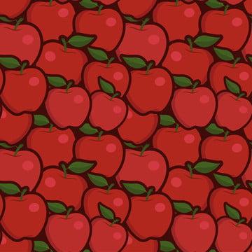 सेब लाल रंग की पृष्ठभूमि निर्बाध पैटर्न , एप्पल, सेब, शरद ऋतु पृष्ठभूमि छवि