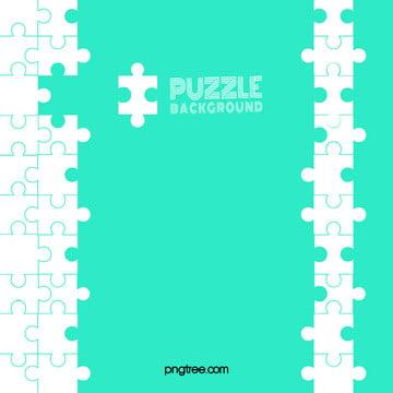 puzzle incomplet de fond vert couleur solide géométrique , Lego, Géométrie, Puzzle Image d'arrière-plan
