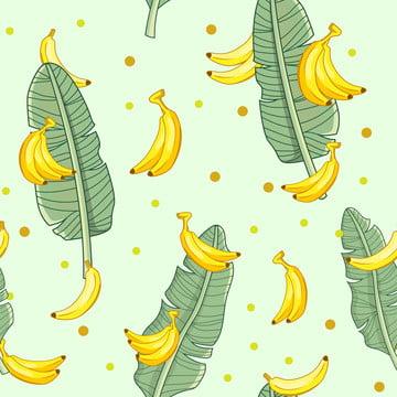 緑の葉と背景壁紙イエローバナナ甘い果実 , 背景, バナナ, バナナリーフ 背景画像