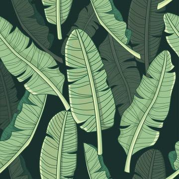 ♪ banana leaf tropical pattern ♪ , Aloha, Nghệ Thuật., Nền Ảnh nền