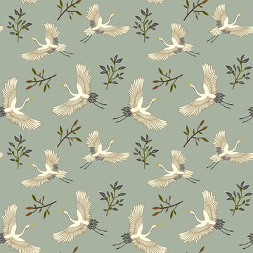 bird flying art pattern , Swan Isolated, Texture, Dotted Background image