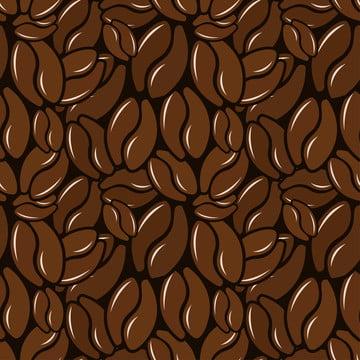 кофейное зерно бесшовной схеме , резюме, аромат, на фоне Фоновый рисунок