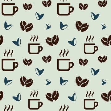 кофейное зерно бесшовной схеме , справочная информация, баннер, напиток Фоновый рисунок