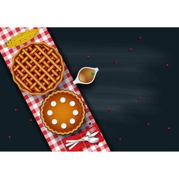 美味烤全雞或火雞與餐具板上 , 表, 晚餐, 感恩 背景圖片