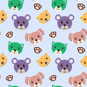 कुत्ते कार्टून बच्चे के विषय निर्बाध पैटर्न , पशु, कला, बच्चे पृष्ठभूमि छवि