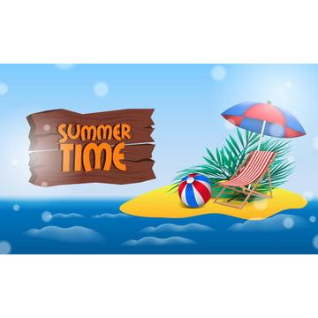 你好暑期沙灘島熱帶度假與海洋 , 背景, 球, 橫幅 背景圖片