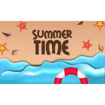 你好夏日熱帶美麗的海灘外有海星 , 背景, 橫幅, 海灘 背景圖片