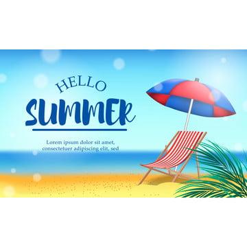 你好暑假帶沙灘景觀度假帶椅子旅行 , 背景, 海灘, 美麗的 背景圖片