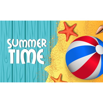 你好夏天藍色的木頭背景和沙灘 , 配件, 背景, 背景 背景圖片
