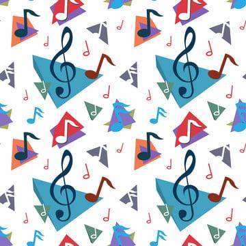 संगीत नोट पैटर्न , ध्वनिक, कला, ऑडियो पृष्ठभूमि छवि