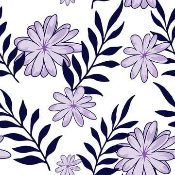 紫色的小花無縫模式 , 美麗的春天, 無縫, 夏威夷 背景圖片