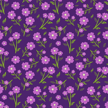 紫色的花朵氛圍無縫模式 , 無縫, 小, 時尚 背景圖片