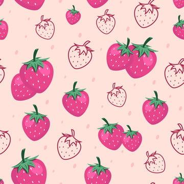 シームレスなイチゴ果実パターンの背景 , アート, 背景, 背景 背景画像