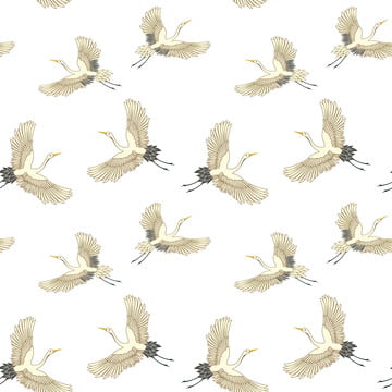 stork bird seamless pattern , China, Beauty, Elegant Background image