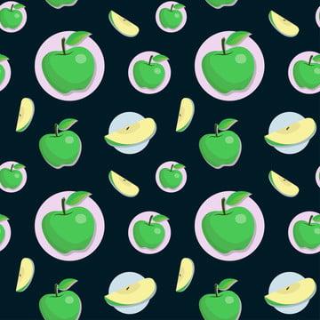 manis apel hijau lancar corak , Pertanian, Apple, Latar Belakang imej latar belakang