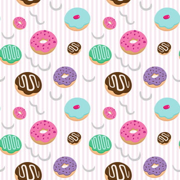 sweet donuts bakery seamless pattern , Cream, Modern, Cake Background image