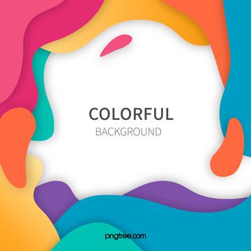 パーティカラー波状曲線の背景 , 多彩, カラー波状曲線の背景, 色を打つ 背景画像